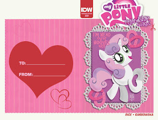 MLP Friendship is Magic #39 IDW Valentine Cover by Lea Hernandez