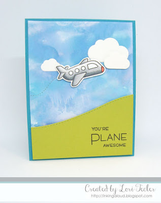 Plane Awesome card-designed by Lori Tecler/Inking Aloud-stamps and dies from Lawn Fawn