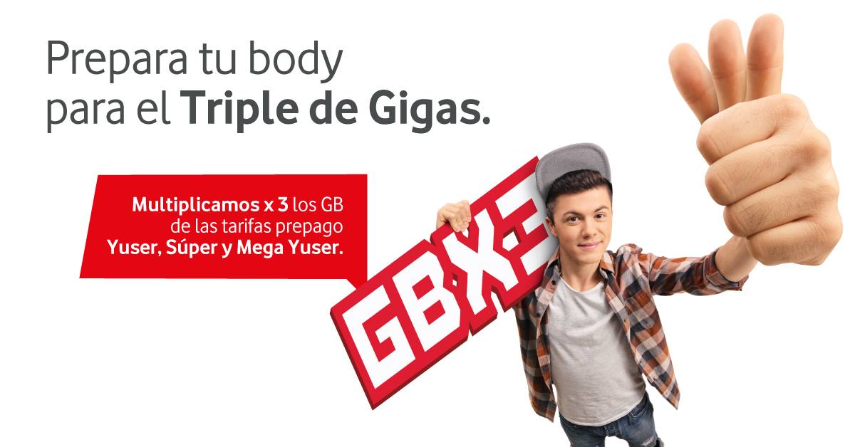 Vodafone Yu triple de gigas