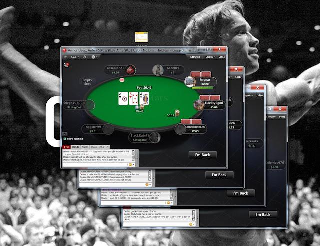 Cascading online poker tables