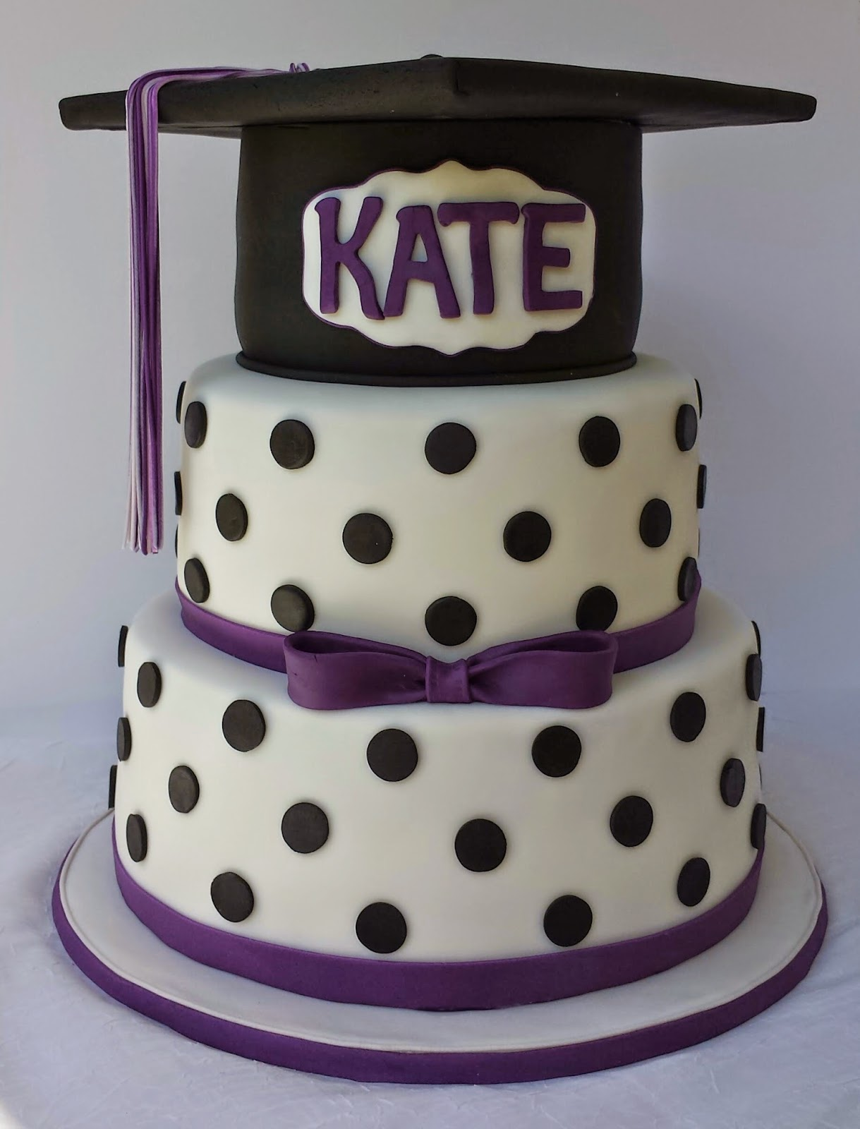 Polka Dot Graduation Cake