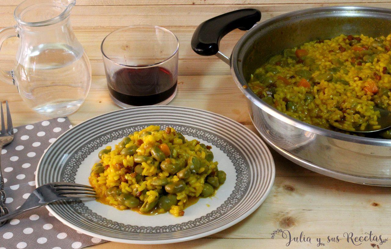 Julia y sus recetas arroz meloso con habas frescas for Como cocinar acelgas frescas