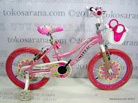 1 Sepeda Anak United Pretty Girl Aluminium Alloy Frame 18 Inci