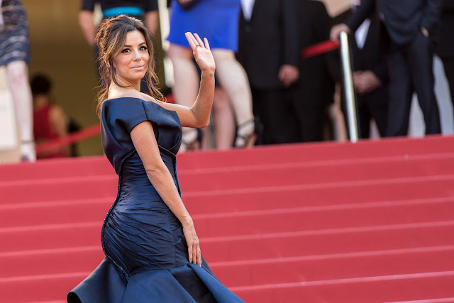 Full HD Photos of Eva Longoria in Blue Dress Carol Premiere 2015 Cannes Film Festival