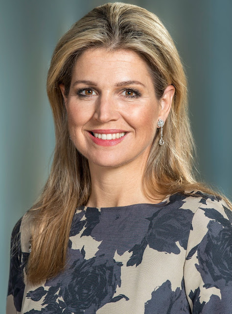 "Queen Maxima of the Netherlands in a new series of official Portraits released by ""Het Koninklijk Huis"" to inaugurate their new website."
