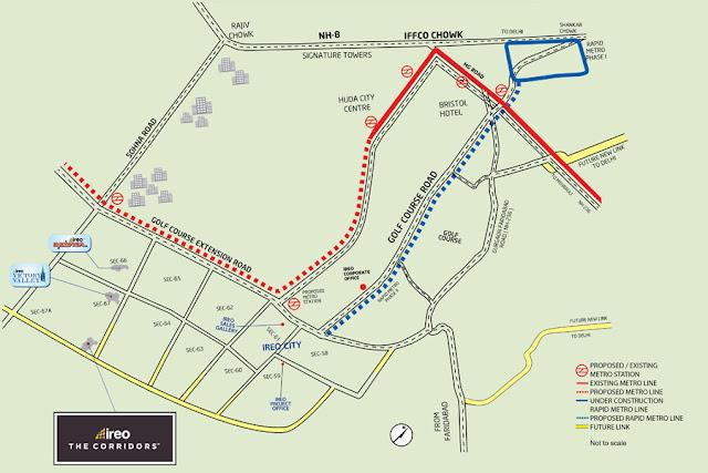 Location map - Ireo Corridors