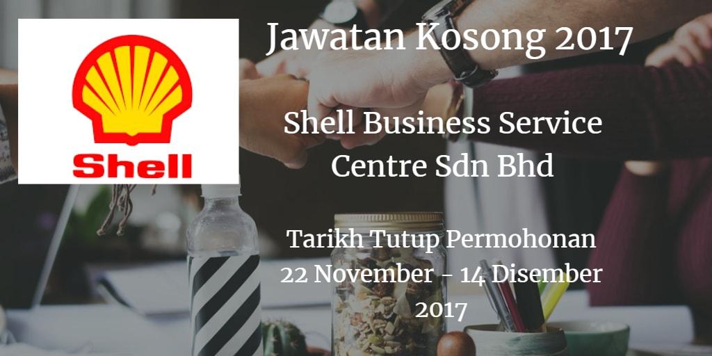 Jawatan Kosong Shell Business Service Centre Sdn Bhd 22 November - 14 Disember 2017