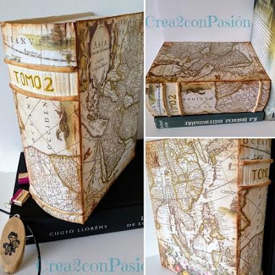 Caja-libro-cartonaje-y-decoupage-collage-presentación-Crea2-con-pasión