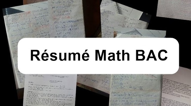 Résumé Math Bac