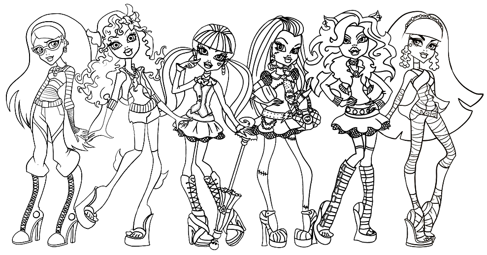 CLICK HERE TO PRINT Free Printable Monster High Coloring Sheet For Ghoulia Yelps Lagoona Blue Draculaura Frankie Stein Clawdeen Wolf And Cleo De Nile