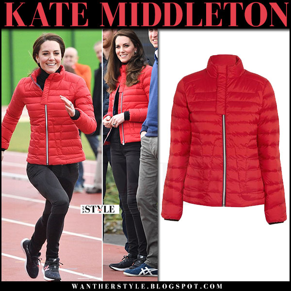 Kate Middleton in red quilted puffer jacket perfect moment what she wore winter style