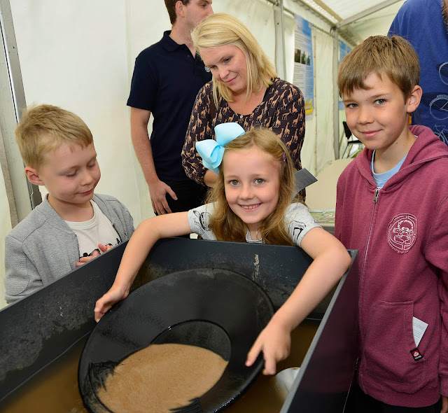 Panning for gold at the BGS Open Day 2017!