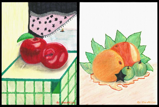Drawing food. Realistic (Independent) Creativity - Menggambar - Memasak - Menjahit