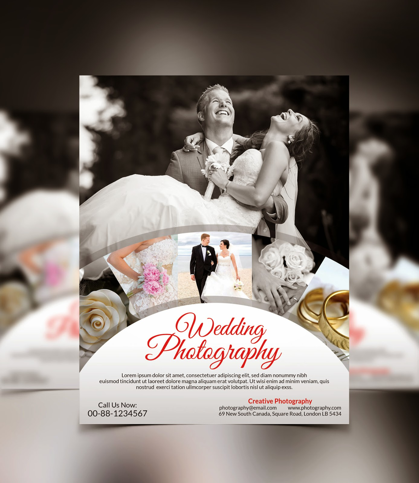 Graphicwind Wedding Photography Flyer