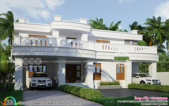 2 car porch home in decorative style