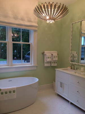 picture of high end bathroom at Designer Showhouse featuring freestanding tub