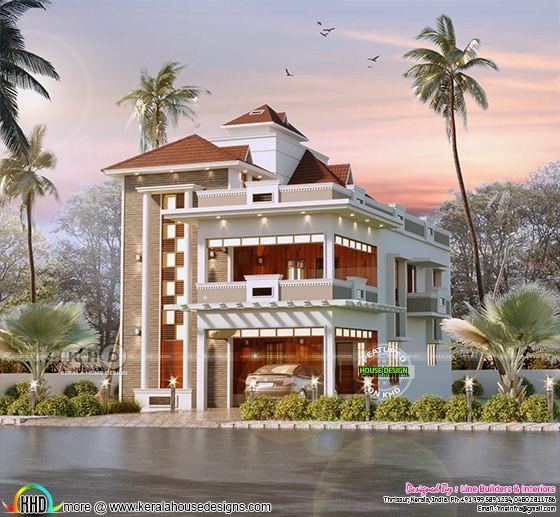 3655 sq-ft unique model home design