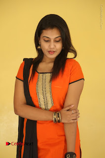 Telugu Actress Chandana Stills in Salwar Kameez at Karam Dosa Movie Press Meet  0042.JPG
