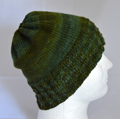 hand knit cabled beanie for sale at https://www.etsy.com/shop/jeanniegrayknits