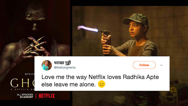 After Ghoul - Netflix gets Trolled on Twitter for Too Much of Radhika Apte