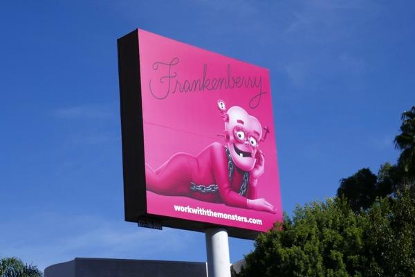 Franken berry Work with the monsters billboard