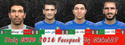 PES 2016 Italy Euro 2016 Facepack by Chiheb27