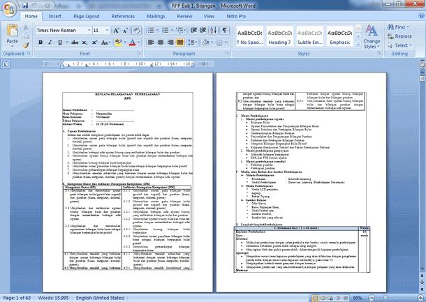 RPP Matematika SMP Kelas 8 Kurikulum 2013 Revisi 2019-2020