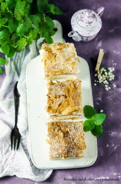 karpatka, maliny, deser, ciasto, ciasto francuskie, bernika, kulinarny pamietnik