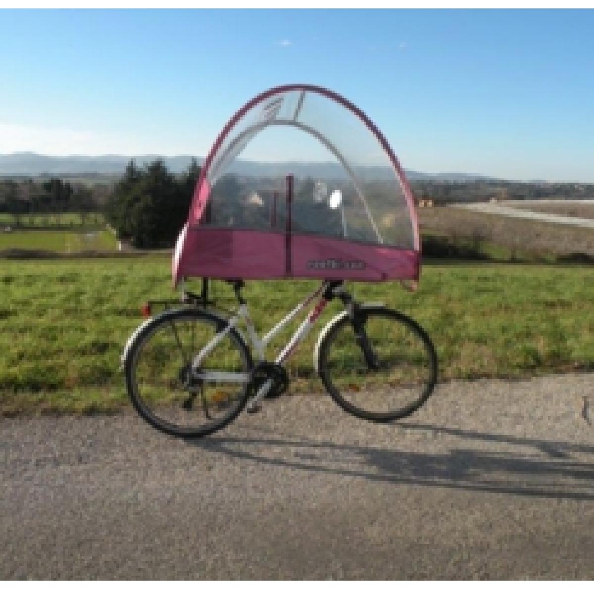 Un abris qui se fixe sur le vélo.