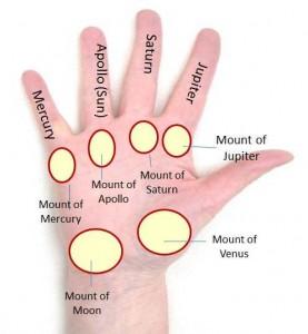 male female mounts on hand palmistry
