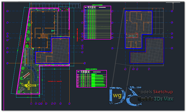 General factory plant in AutoCAD