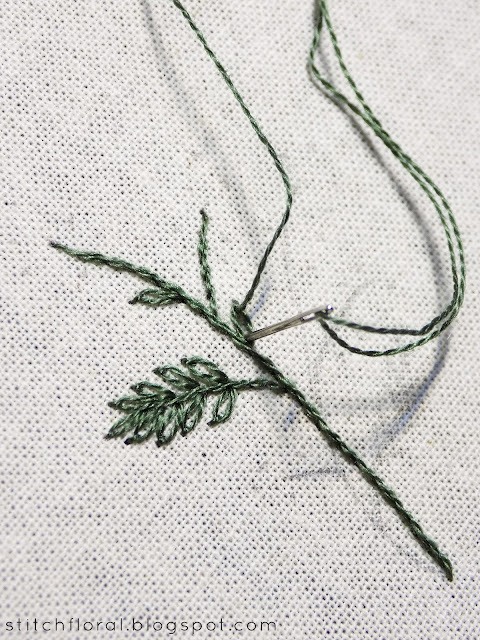 Hand embroidery mimosa