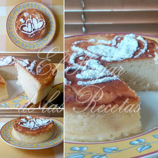 Tarta de queso crema o quark decorada con azúcar glas por encima con formas de corazones