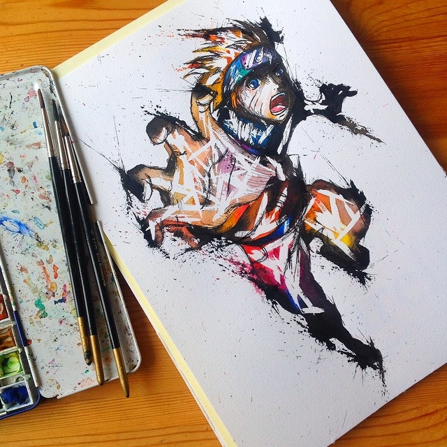 13-Naruto-Dattebayo-Lisa-Marie-Melin-LittleGeekyFanArt-Fan-Art-Comic-Manga-and-Video-Game-Paintings-www-designstack-co