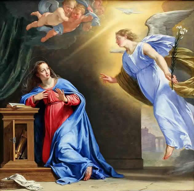 Resultado de imagen de la anunciacion de maria