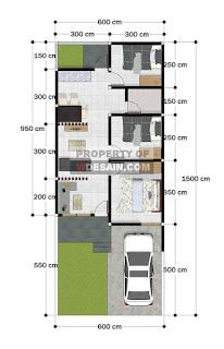 Tampak Depan Rumah Minimalis lebar 6 panjang 10 Full Bangunan resize