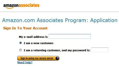 Amazon.com Associates Program Application