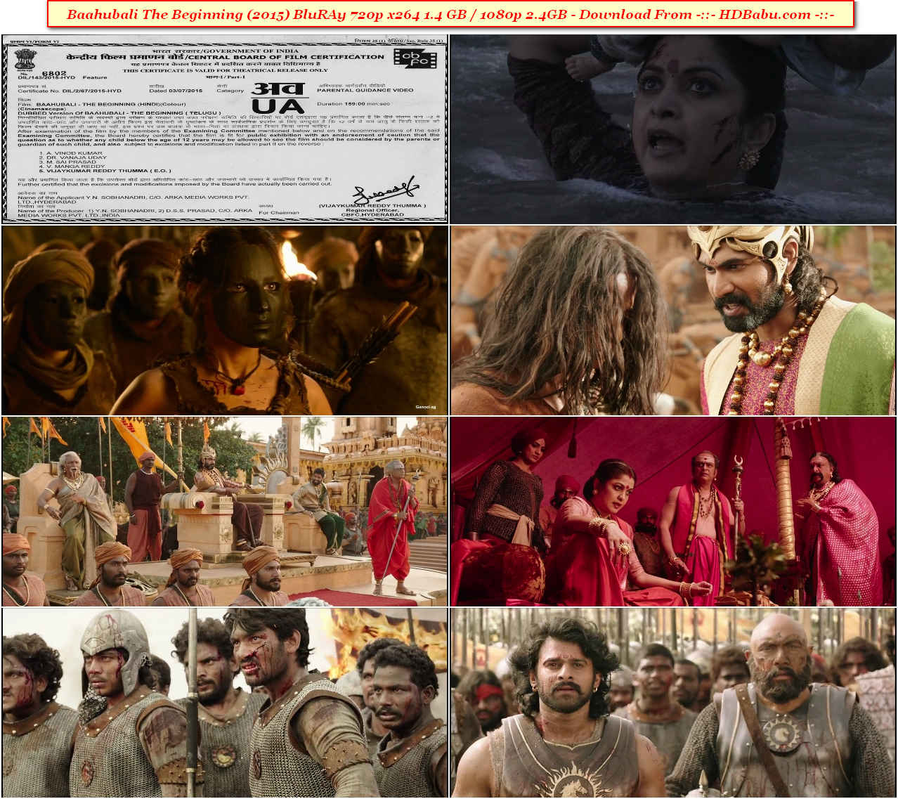 Baahubali Hindi Full Movie Download