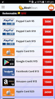 Meshbean rewards, earn money from mobile phone