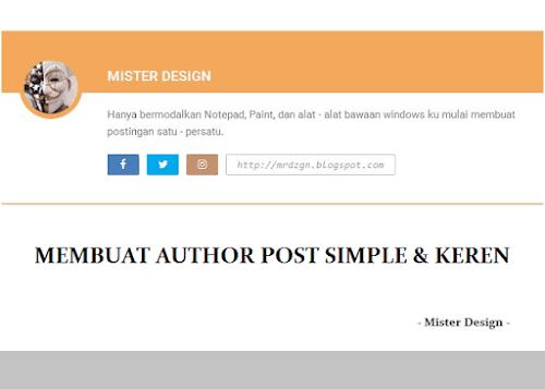 Membuat Author Post Simple & Keren di Blogger