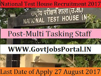 National Test House Recruitment 2017– 53 Electric Welder & Multi Tasking Staff