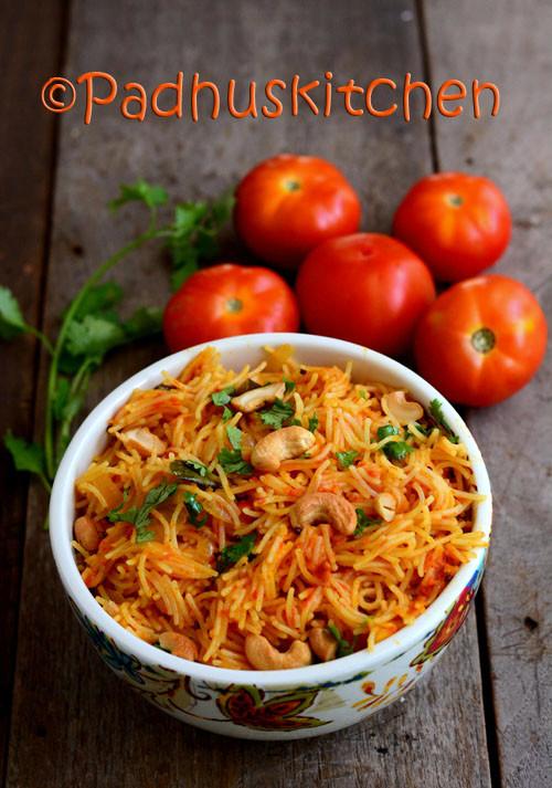 Tomato Semiya-Vermicelli Tomato Bath-Thakkali Semiya