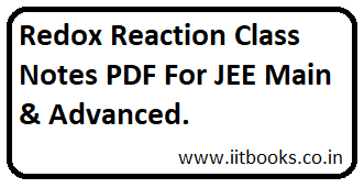 Allen Institute Redox Reaction Class notes PDF - IIT BOOKS