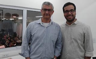 Secretário de Cultura Márcio de Paula e Mateus Simões, Diretor Executivo da Orquestra Petrobras Sinfônica