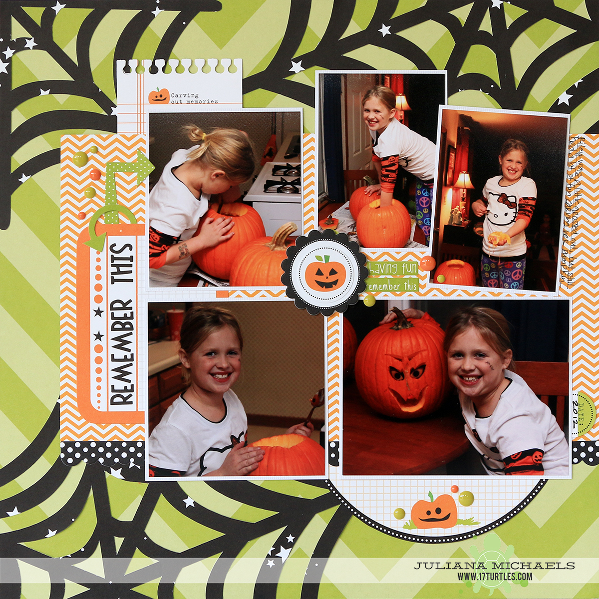 Remember This Halloween Scrapbook Page by Juliana Michaels Making the Most of your Digital Die Cuts Silhouette Cameo Quick Tip