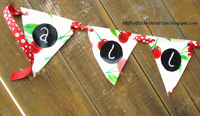 No sew oil cloth garden banner