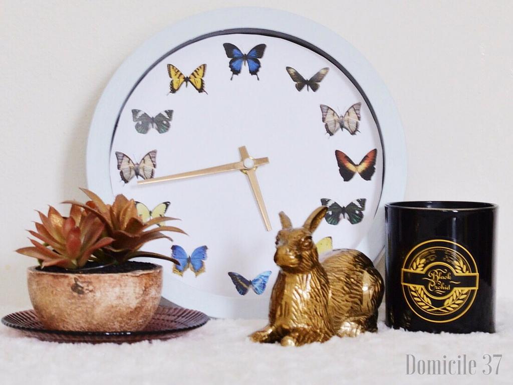 Entomology Clock, DIY butterfly entomology clock, domicile 37, graphic stock, printable, Entomology printable