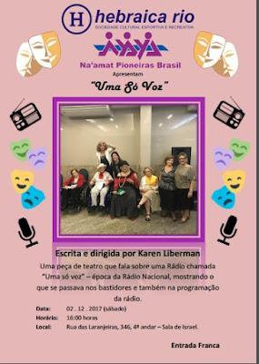 Hebraica Rio apresenta espetáculo sobre a época de ouro do rádio