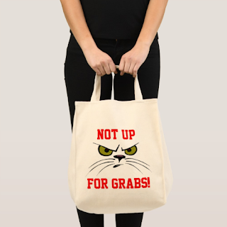 """Not Up For Grabs!"" bag at Mindful Humanism by On My Kindle BR"