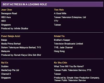 Puteri Balqis | Top 6 Calon Pelakon Wanita Terbaik Asian Television Awards 2014